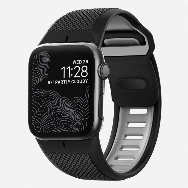 Nomad Apple Watch Sport strap - Slate - Black - Black